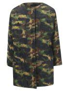 Rochas Camouflage Coat - Dark green
