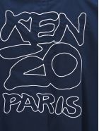 Kenzo Embroidered Logo Raincoat - BLUE