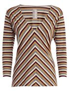 Antonio Marras Striped V-neck Sweater - Multicolore
