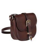 Golden Goose Dark Brown Leather Crossbody Bag - Brown