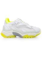Ash Mesh Panel Sneakers - White Fluo Yellow