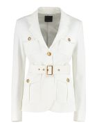 Pinko Trissa Single-breasted Blazer - White