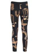 Versace Collection Pants Leggings Baroque Printing - Nero Stampa