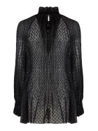 Philosophy di Lorenzo Serafini Black Polka Dots Blouse - Nero