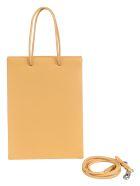 Medea Detachable Strap Logo Tote - Caramello