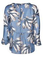Max Mara The Cube Tropical Print Blouse - Cream/Blue