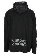 Off-White Off White Lightweight Logo Print Hoodie - BLACK