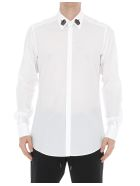 Dolce & Gabbana Crowns Patch Shirt - White