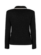 Boutique Moschino Boucle' Wool Single-breasted Jacket - black