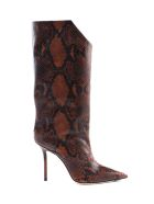 Jimmy Choo Snake Printed Boot - Cuoio
