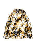 Young Versace Patterned Down Jacket - Multicolor