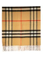 Burberry Giant Check Solid Long Double Faced Cashmere Scarf - Frosted Pink