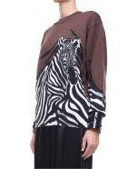 Krizia Zebra-intarsia Wool-knit Oversized Sweater - Marrone