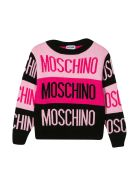 Moschino Multicolor Shirt With Long Sleeves - Nero/fucsia