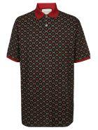 Gucci All Over Print Polo Shirt - Black