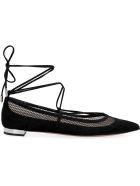 Aquazzura Dalia Flat Sandals - black
