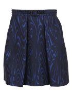 Kenzo Structured Short Skirt - Navy Blue