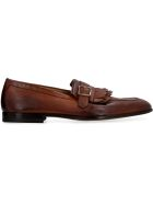 Doucal's Fringed Leather Loafers - brown
