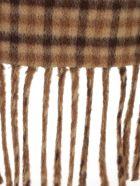 Nanushka Trench Check W/fringes - Brown Check Fringe