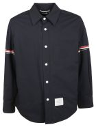 Thom Browne Stripe Sleeved Shirt - Blue