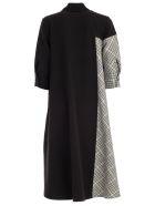 Ultrachic Dress 3/4s Pied De Poul - Black Pied De Poul White