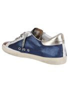 Golden Goose Blue And Orange Leather Super-star Sneakers - BLUE orange