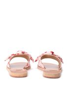 Ancient Greek Sandals Taygete Red And Pink Fabric Slippers - MULTICOLOR
