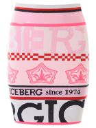 Iceberg Logo Mini Skirt - BIANCO OTTICO (Pink)