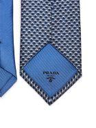 Prada Patterned Tie - Blu bianco