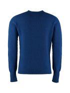 Drumohr Crew-neck Wool Sweater - blue