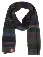 De Clercq Striped Scarf - Multi dark