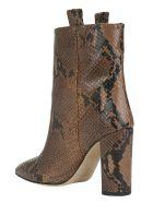 Paris Texas Snake Ankle Boots - Camel