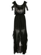 Faith Connexion Ruffle Detail Wrap Dress - Black