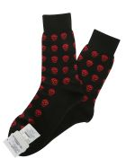 Alexander McQueen Socks - BLACK RED
