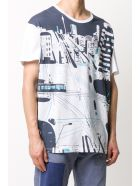 Mr & Mrs Italy Yts0042 Printed Oversize T-shirt - WHITE