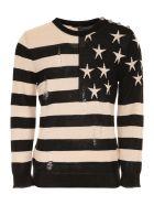 Balmain Printed Pullover - BEIGE|Beige