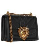 Dolce & Gabbana Dolce&gabbana Medium Devotion Crossbody Bag - BLACK