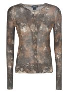 Avant Toi All-over Printed Cardigan - Suede