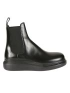 Alexander McQueen Elasticated Side Panel Ankle Boots - Black