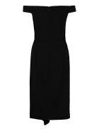 Alexander McQueen Wool Crepe Dress - Nero