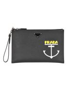 Prada Prada Anchor Pouch - BLACK ANCHOR PRINT