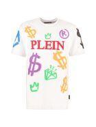 Philipp Plein Printed Cotton T-shirt - Bianco