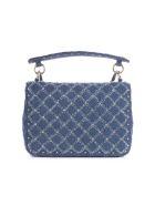 Valentino Rockstud Shoulder Bag - Denim