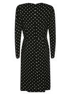 RED Valentino Polka-dot V-neck Dress - Black