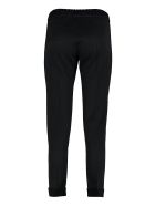 D.Exterior Embroidered Jogging Trousers - black