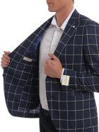 Luigi Bianchi Mantova Oxygen Check Blazer - Blue