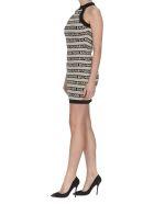 Balmain Logo Balmain Stripe Dress - Beige