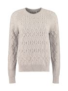 Agnona Cable Knit Pullover - grey