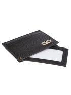 Salvatore Ferragamo Logo Plaque Card Holder - Black