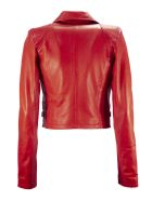 S.W.O.R.D 6.6.44 Red Leather Biker Jacket - Rosso